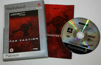 Red Faction Platinum  (Sony PlayStation 2, 2001) Complete with manual