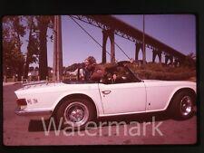 1980s 35mm photo slide 1970s Triump TR6 sports car automobile #2