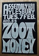 ZOOT MONEY-Rare Original Ricky Tick Poster-Assembly Hall, Aylesbury 1967