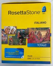 ROSETTA STONE ITALIAN Levels 1,2,3,4 & 5 Language Course With Headset