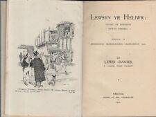 """LEWIS DAVIES (Y Cymer, Port Talbot) - """"LEWSYN YR HELIWR"""" - WELSH STORIES (1922)"""