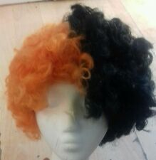 Orange & Black Wig - Curly - Free Post - See Picture - Good Quality - UK Seller