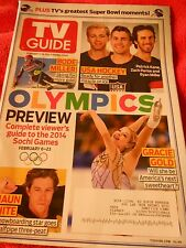 TV GUIDE MAGAZINE FEBRUARY 3-16 2014 DOUBLE ISSUE OLYMPICS PREVIEW SOCHI WHITE
