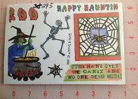Halloween Witch, Skeleton, Spider Web +++ New Set Of 7 Cling Mount Rubber Stamps