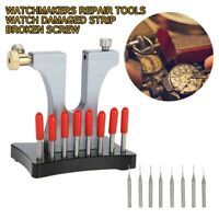 Watchmaker Repair Tool Watch Damaged Strip Broken Screw Remover Drill Bit Set CY