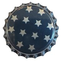 100 Star Blue Home Brew Beer Bottle Crown Caps Sun Moon Decoration Art Crafts