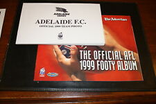 1999 Adelaide Advertiser AFL Official Team Photo Album and set of 16 cards