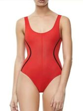 Good American Good Body Compression Tank Bodysuit Red Size 1 New Without Tags