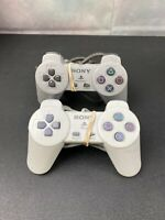 Lot of 2 original Sony Playstation PS One controller PS1 game pad remote control
