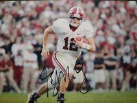 Greg McElroy Alabama Crimson Tide Hand Signed 8x10 Autographed Photo COA