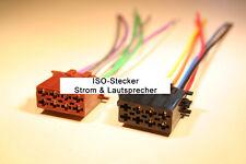 Standard ISO Stecker für Strom und Lautsprecher voll belegt auf offene enden