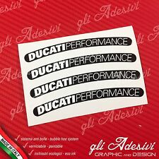 4 Klebstoffe Alufelgen Moto Ducati Performance Old Schwarz und Weiß