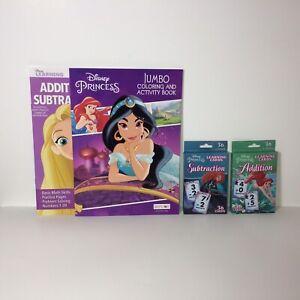 First Grade Math Addition Subtraction Disney Princess Flash Cards And Workbooks