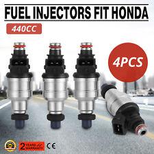 Pop Free clips Fuel Injectors 440cc Fit Honda Civic 1.6L EX/SI SOHC VTEC Car