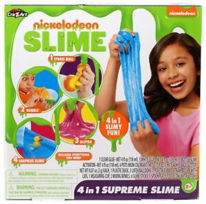 Nickelodeon Slime 4 in 1 Supreme Slime Kit, Multicolor Cra-Z-Art 8 +