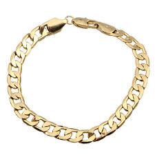 Real 18k yellow Gold filled Men's Women 8MM Bracelet Chain Birthday Xmas Gift