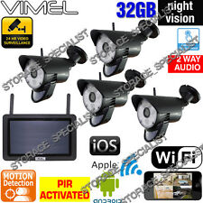 Home Security Cameras System 32GB Wireless Surveillance IP WIFI Remote Monitor