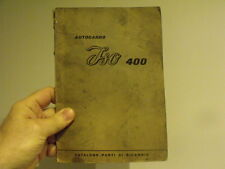 Isocarro 400 bresso truck owner manual parts service -vintage car microcar
