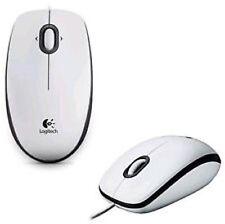 Logitech B100 Optical USB Mouse (White)