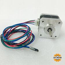 ACT Motor GmbH 1PC Nema17 Schrittmotor 17HS3404L23P1-X1 0,4A 34mm 28Ncm D-Flat