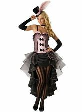 WOMENS LADIES BURLESQUE COSTUME HEN DOO FANCY DRESS PARTY MOULIN ROUGE CAN CAN