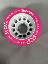New Neon Pink Radar Pop 38mm X 59mm Single Skateboard Wheel