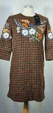 ZARA CLOTHING Designer Dress Size S Colour Brown