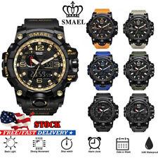 Smael Men Military Sport Quartz Analog Digital Shock and Waterproof Wrist Watch