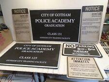 GOTHAM - Prop Lot of 6 TV Show Signs