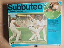 More details for subbuteo cricket club edition not fully complete  for spares