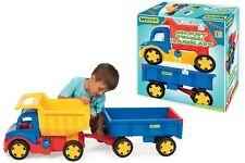 Wader XXL LKW Gigant Truck mit Bollerwagen Kipper Lastwagen Hänger Dumper Autos