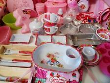 Strawberry Shortcake Baking tins toast rack cups plates chef hat cookie cutters