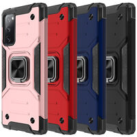 Case For Samsung Galaxy S20 FE 5G, Full Body Built-in Kickstand + Tempered Glass