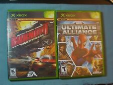 Lot of 2 Xbox Games - Burnout Revenge and Marvel Ultimate Alliance