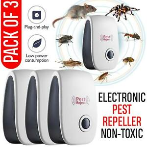 Ultrasonic Plug In Pest Repeller Deter Mouse Mice Rat Spider Insect Repellent UK