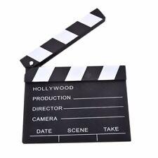 Wooden Tool Clapper Prop Film Cut Board Clapperboard Movie