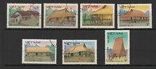 Vietnam 1986 architecture populaire série de 6 timbres oblitérés /TR8434