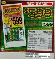 "Pull Tab Ticket ""Jockeys"" 990ct - $261.00 PROFIT - FREE SHIPPING"