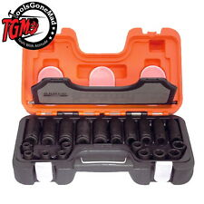 Bahco 20pc Impact Socket Set From 10mm to 19mm With Polythene Case D-dd/s20