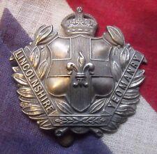 Lincolnshire Yeomanry Regiment Cap Badge British White Metal Army Cap Badge