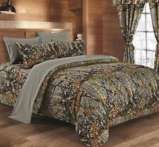 Regal Reversible Woodland Camo Comforter (Gray, Queen/Full Size)