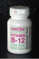 McK Geri-Care Vitamin B-12 Supplement 100 mcg Strength Tablet 100 per Bottle