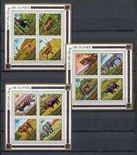 27537) GUINEA  GUINEE 1975 MNH**  Animals S/Sx3