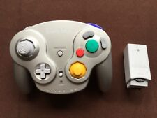 Official Nintendo GameCube Wireless Wavebird Controller with receiver platinum
