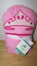 "Disney Baby hooded towel Disney princess crown 25x36"" Pink NEW worn package"