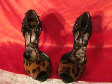 Sam Edelman Fur & Spiked Heels Size 5