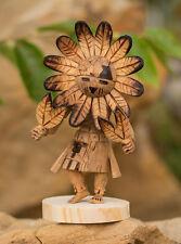 "Navajo Indian Native American Handmade Sunface Kachina Doll Figurine 5"""