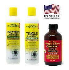 Jamaican Mango - Tingle Shampoo, Protein Conditioner & Black Castor Oil Set