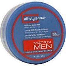 Matrix Men All Style Wax Defining Shine Wax 1.7 oz Details w/ Light Hold