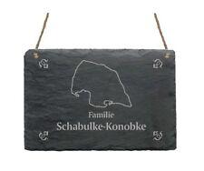 « INSEL FEHMARN » Schiefertafel Türschild mit MOTIV + IHR TEXT  Ostsee Camping